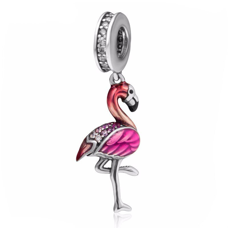 CHARMS BEADS do Pandora SREBRO 925 FLAMING