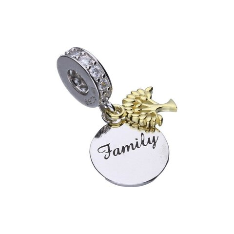 CHARMS BEADS do Pandora SREBRO 925 Family Drzewko
