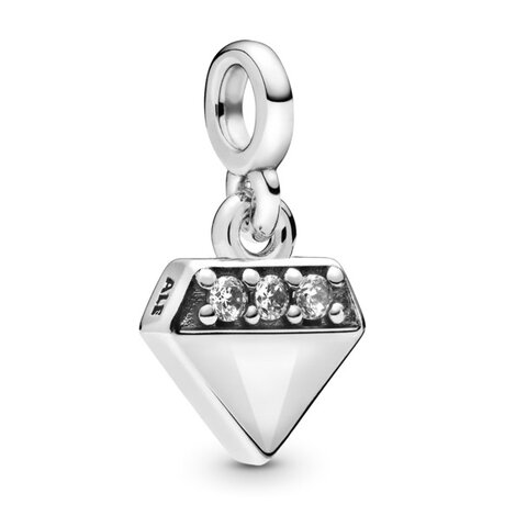 Koralik Zawieszka Little Beads do Pandora Srebro 925 Diament